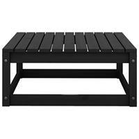 vidaXL Tuinvoetenbank 70x70x30 cm massief grenenhout zwart
