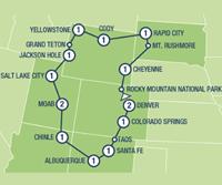 Rocky Mountain Frontiers (16 dagen) - Amerika - N-Westen+Rockies - Denver