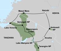Beleef de migratie van Oost-Afrika (16 dagen) - start Nairobi - Kenia - Nairobi