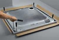 Floor douchevloerondersteuning staal (lxbxh) 1500x1000x80 - 200mm toepassing douchevloerdrager