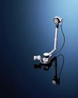 Pushcontrol badwaste m/sifon 23-46 hoog / 24-50 naar voren chroom