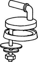 Pressalit Uni scharnierset voor toiletzitting, RVS