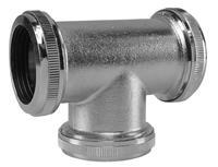 Mueller chroom koppel-T-stuk 32 mm tbv vloerbuis