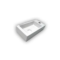 Best Design Fontein Mini-Block Wit Rechts 36x18x9cm