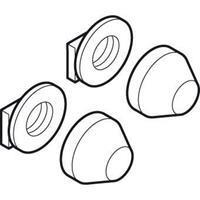 Geberit Badkamerkapjes Set di copribulloni cromati opachi
