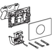 Geberit Sigma10 bedieningspaneel closet/urinoir kunststof wit/glans chroom/wit (lxbxh) 246x164x14mm