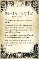 Death Note Rules Poster 61x91,5cm