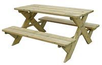 Outdoor Life Products picknicktafel - naturel - 50x90x98 cm