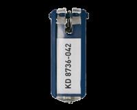 Durable Key clip sleutelhanger Blauw. 25 (pak 6 stuks)