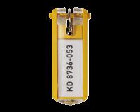 Durable Key clip sleutelhanger Geel. 25 (pak 6 stuks)