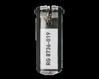 Durable Key clip sleutelhanger Zwart. 25 (pak 6 stuks)