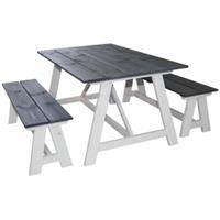 SenS-Line Country picknickset - wit/grijs