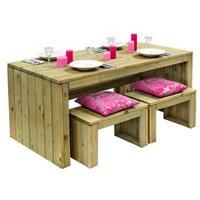 Outdoorlife picknickset - naturel - 4-delig