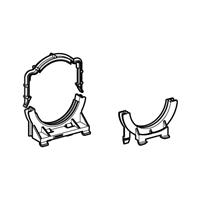 Geberit Duofix klembeugel voor afvoerbocht dupfix