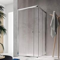 Badstuber Corner vierkante douchecabine 80x80x190cm chroom