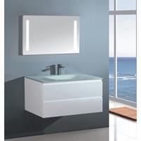 Badstuber Glass badkamermeubel 70cm hoogglans wit