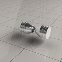 Wiesbaden losse deurknop type 2, chroom
