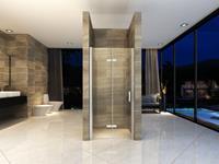 Mueller Siera vouwbare douchedeur 90x202cm links anti-kalk coating