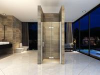 Mueller Siera vouwbare douchedeur 100x202cm rechts anti-kalk coating