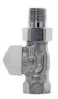 """Heimeier V-exact II thermostatische radiatorafsluiter DN=15 1/2"""" recht, vernikkeld"""