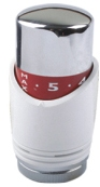 Sub Luxe thermostaatknop M-30, chroom wit