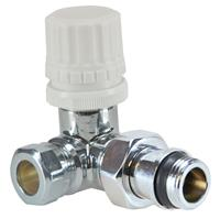 """Sub luxe therm ventiel M22 1/2"""" x 15 mm knel haaks rechts"""
