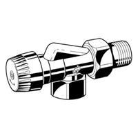 Honeywell Ultraline BB radiatorafsluiter uitvoering binnendraad/buitendraad haaks verkeerd thermostatisch voorbereid