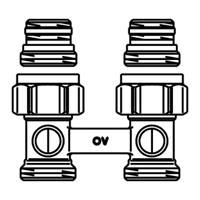 Oventrop H onderblok Multiflex F 3/4 x3/4 recht 1015813