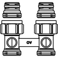 Oventrop H onderblok Multiflex F 1/2 x3/4 recht 1015883