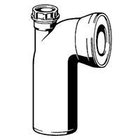 Viega toiletbocht 90° met aansluiting 4 cm, wit