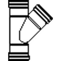 Wavin PVC manchet T stuk 45° 110x75 mm 3xmof 1112211074
