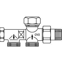 Oventrop Onderblok Duo 2 pijps M24x15 instelbaar 1182651