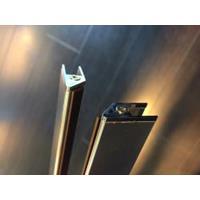 Wiesbaden set magneetstrips 8 mm chr. tbv swingdeur+wand