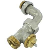 Comap radiatorafsluiter uitvoering staartstuk/buitendraad recht met bocht thermostatisch voorbereid