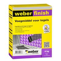 Weber finish voegmiddel lichtgrijs 4kg