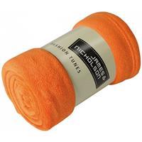 James & Nicholson Microvezel fleece deken oranje