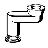 Viega toilet afvoersprongstuk vlak 9 cm