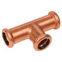Bonfix Press t-stuk 22x22x22 mm, pers, roodkoper
