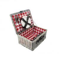 Picknickmand 40x28 cm ruit rood