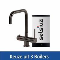 Selsiuz Kokendwaterkraan Steel Haaks Gun Metal Inclusief Boiler - Kokendwaterkraan Steel Haaks Gun Metal Inclusief Single Boiler