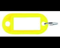 Pavo Sleutellabel  kunststof geel