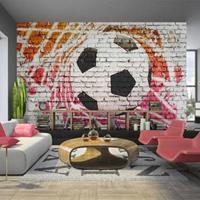Fotobehang - Straatvoetbal