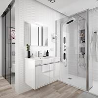 Muebles Fusion badmeubel hoogglans wit 70cm