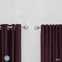 Lifa Living Geweven Gordijn - Ringen - 150 x 250 cm - Verduisterend & Isolerend Kleur: Bordeaux