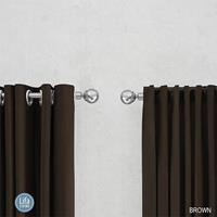 Lifa Living Geweven Gordijn - Haken - 150 x 250 cm - Verduisterend & Isolerend Kleur: Bruin