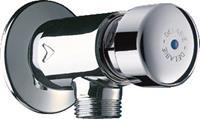 delabie Tempostop mechanische urinoirspoeler chroom hoogte 50mm uitvoering wandopbouw