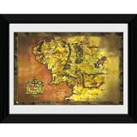 GB Eye poster in lijst Lord of the Rings Middle Earth 30 x 40 cm