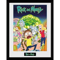 GB Eye poster in lijst Rick and Morty Compilatie 30 x 40 cm