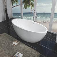 Douche Concurrent Oval vrijstaand ligbad acryl 170x78 mat-wit