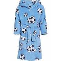 Blauwe badjas voetbal voor jongens 110/116 (5-6 jr)